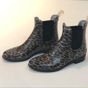 Sam Edelman Tinsley Rubber Rain Boot Leopard